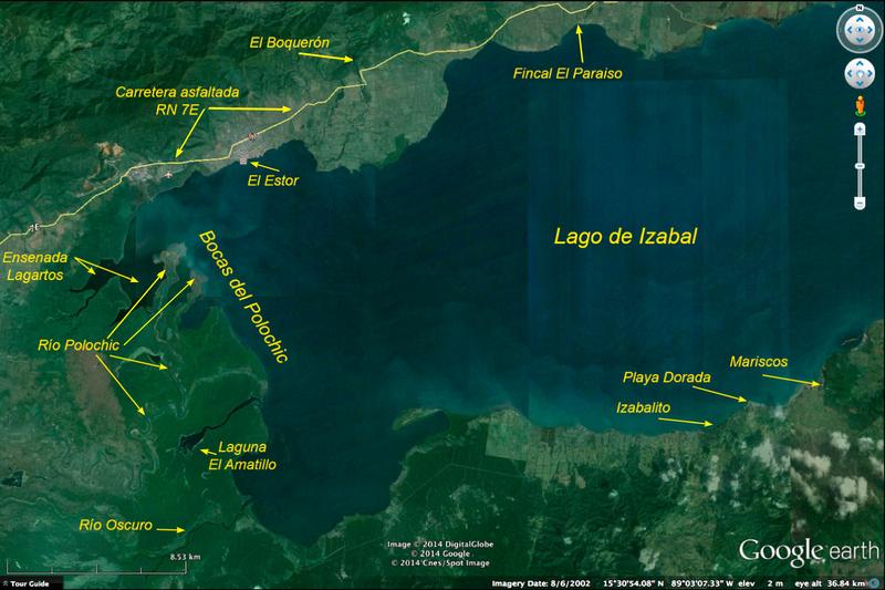 Mapa Bocas Polochic