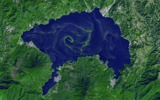 Cianobacteria lago Ati