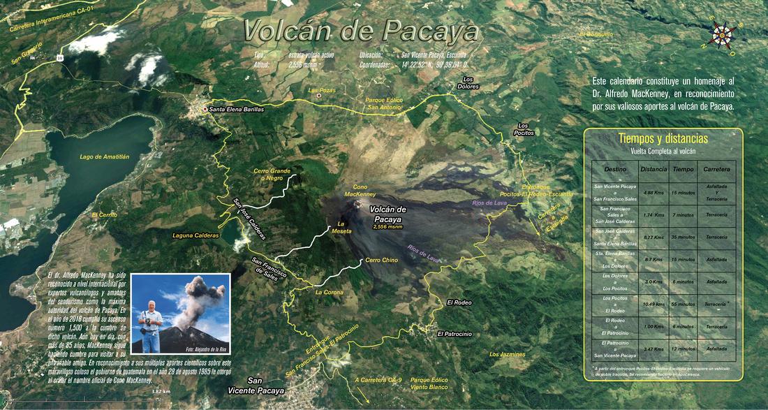 Mapa para volcán de Pacaya